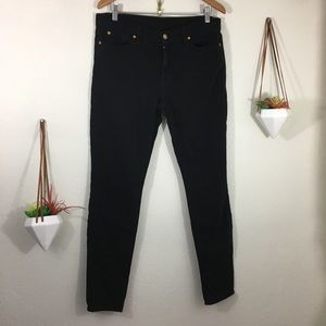 7 for all Mankind Gwenevere black skinny jeans